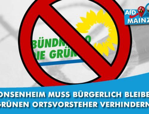 Gonsenheim muss bürgerlich bleiben! Grünen Ortsvorsteher verhindern!