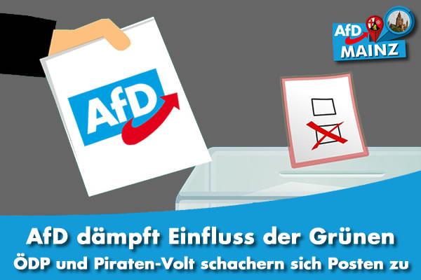 AfD Mainz dämpft Einfluss der Grüen