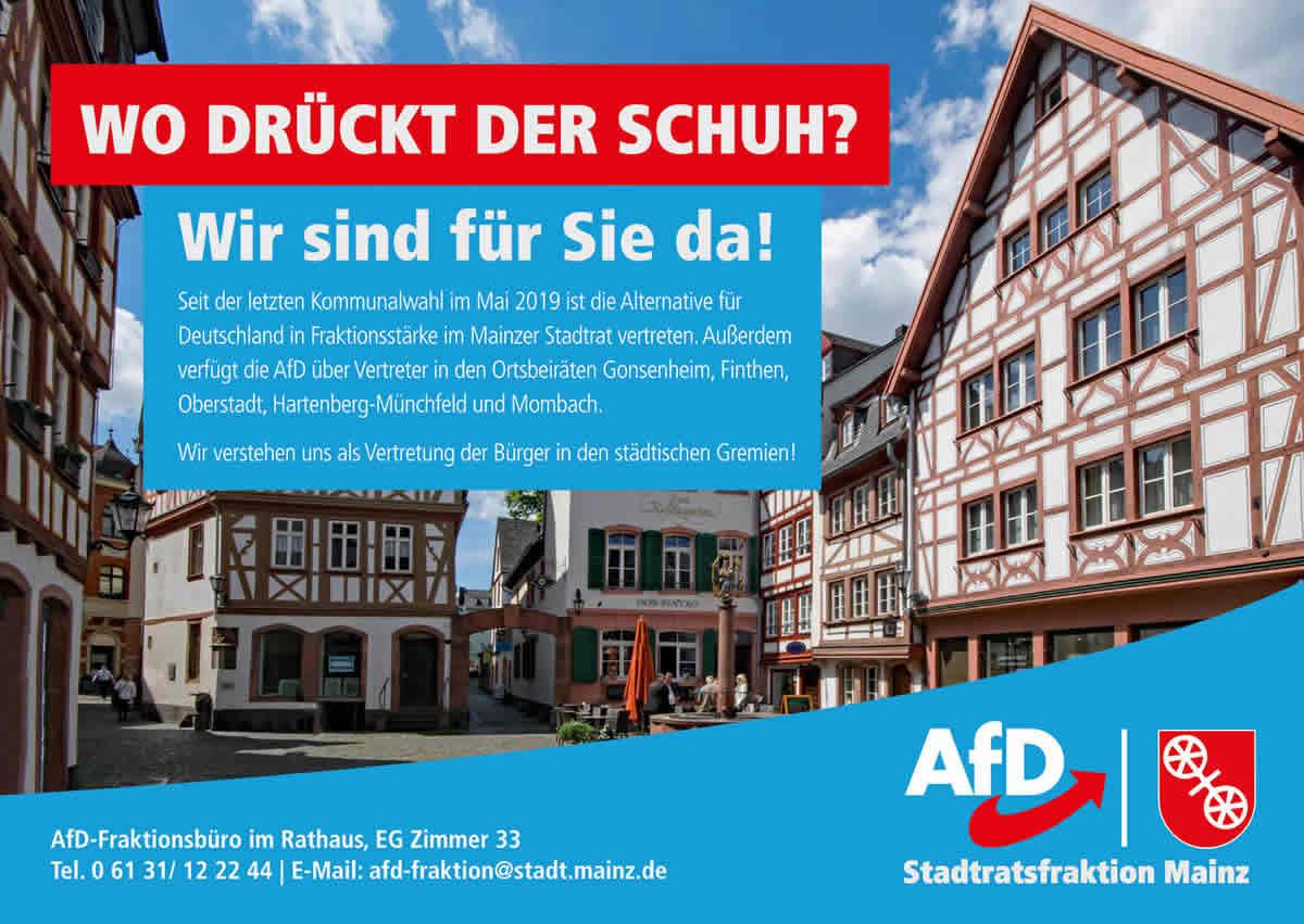 Wir sind für Sie da - AfD Mainz