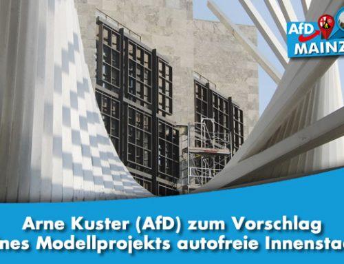 Arne Kuster (AfD) zum Vorschlag eines Modellprojekts autofreie Innenstadt: Einzelhandel und Pendler sind darauf angewiesen, dass die Innenstadt gut mit dem Auto erreichbar ist