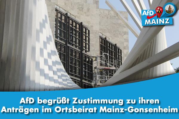 AfD begrüßt Zustimmung zu ihren Anträgen im Ortsbeirat Mainz-Gonsenheim