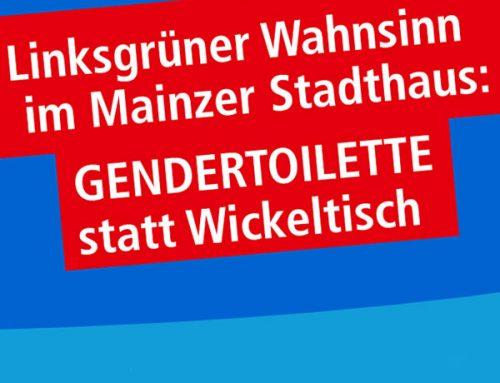 Linksgrüner Wahnsinn im Mainzer Stadthaus: Gendertoilette statt Wickeltisch