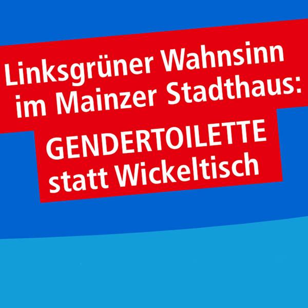 Gendertoilette statt Wickeltisch